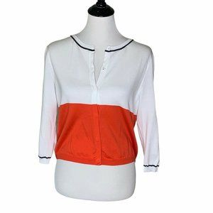 Peserico Tricot Cardigan Sweater White Cotton M